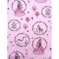 Baumwollstoff Kinderstoff Prinzessin rosa Breite 150cm ab 50cm
