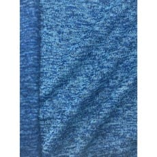 Strickstoff Strickfleece Stoff Fleece meliert kobalt