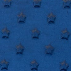 Minky Fleece Sterne Microfleece Stoff Breite 165 cm dunkelblau