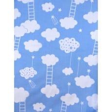 Baumwollstoff Kinderstoff Wolke hellblau Breite 160cm ab 50 cm