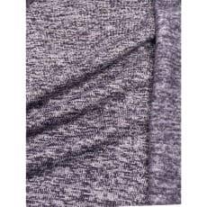 Strickstoff Strickfleece Stoff Fleece meliert violett ab 50cm