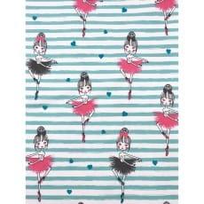 Jersey Stoff Kinderstoff Ballerina min rosa Breite 145cm ab 50cm
