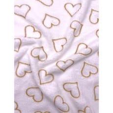 Fleecestoff Wellness Herzen weiß Breite 165 cm ab 50cm