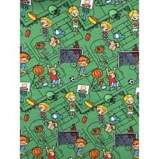 Jersey Stoff Kinderstoff Fußballspiel Stadion grün Breite 150 cm ab 50 cm