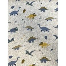 Fleecestoff Muster Dinos grau meliert Breite 145 cm ab 50cm