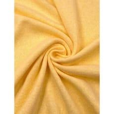 Strickstoff Baumwolle uni hellgelb angeraut ab 50 cm