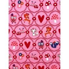 Jersey Stoff Kinderstoff Eulen rosa ab 50 cm