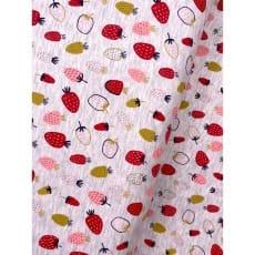 Jersey Stoff Kinderstoff bedruckt Erdbeeren beige Breite 148cm