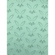 Jersey Stoff Kinderstoff Kaninchen Mint Breite 150 cm ab 50 cm