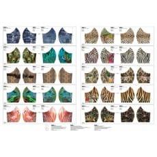 Stoffpanel Baumwolle Mund-Nasen-Maske Stenzo Tier Muster 10 Stück