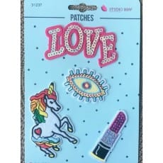 Aufnäher Applikation Patches Love Set 4 Teile