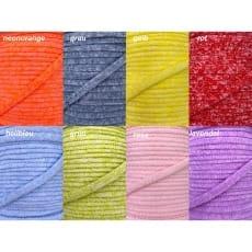 5m Kordel meliert Polyester 6mm flach Schnur Turnbeutel Seil