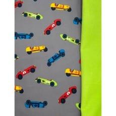 Softshell Kinderstoff Regenstoff Autos grau ab 50 cm