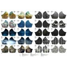 Stoffpanel Baumwolle Mund-Nasen-Maske Stenzo Muster 10 Stück Nr.4