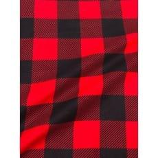 Flanell Stoff Baumwolle bedrückt Karomuster kariert rot Breite 160 cm