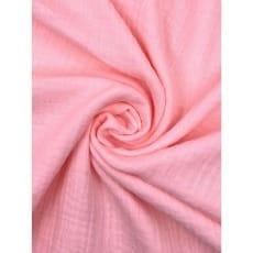 Double Gauze Musselin Stoff Schnuffeltuch uni rosa