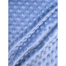 Minky Fleece Noppen Stoff Microfleece himmelblau Breite 150 cm