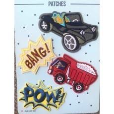 Aufnäher Applikation Patches Auto Bagger Set 4 Teile
