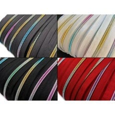 Reißverschluss endlos Spirale Regenbogen 5mm Meterware mit Zipper (1m+3 Zipper)