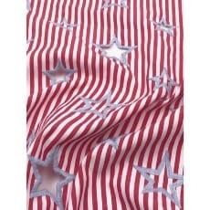 Baumwollstoff Stoff Dekostoff Sterne gestickt Breite 145 cm