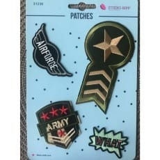 Aufnäher Applikation Patches Army Set 4 Teile