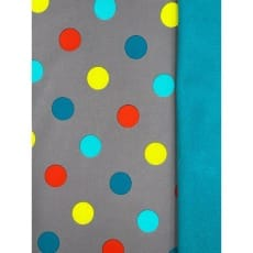 Softshell Kinderstoff Regenstoff Punkte grau ab 50 cm