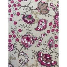 Dekostoff Baumwolle Stoff Leinenoptik Blumen Breite 140 cm