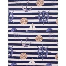 Canvas Digital Stoff Dekostoff Baumwollstoff Maritim Breite 135 cm