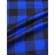 Flanell Stoff Baumwolle bedrückt Karomuster kariert blau Breite 160 cm