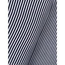 Bündchenstoff Schlauch Meterware Streifen dunkelblau ab 50cm