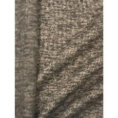 Strickstoff Strickfleece Stoff Fleece meliert helltaupe