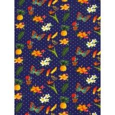 Jersey Stoff Kinderstoff Blümchen dunkelblau Breite 150 cm ab 50 cm