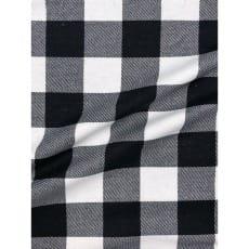 Flanell Stoff Baumwolle bedrückt Karomuster kariert schwarz Breite 160 cm