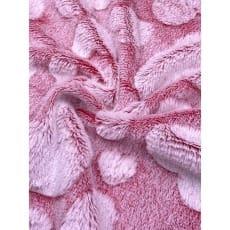 Pelz Stoff Herz Fleece Fellimitat Breite 165 cm rot
