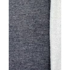 Lammfleece Stoff anthrazit meliert ab 50 cm