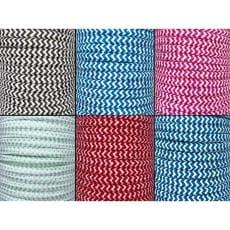 Kordel Zickzack 10 mm rund Schnur Turnbeutel Seil 6 Farben