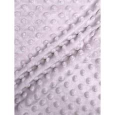 Minky Fleece Noppen Stoff Microfleece silbergrau Breite 150 cm