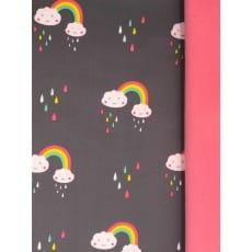 Softshell Kinderstoff Regenstoff Wolke ab 50 cm