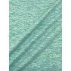 Jersey Baumwolle-Leinen uni meliert mint