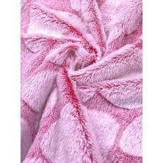 Pelz Stoff Herz Fleece Fellimitat Breite 165 cm pink