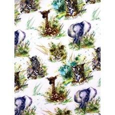 Baumwollstoff Kinderstoff Tiere Digital Print Breite 150cm ab 50 cm