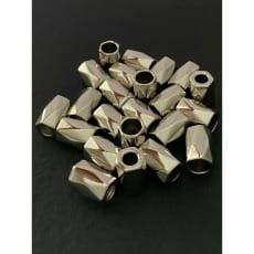 Kordelenden Metall/silber geriffelt