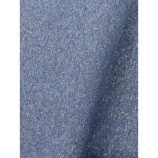 Bündchenstoff im Schlauch uni jeansblau mit Glitzer Lurex ab 50cm