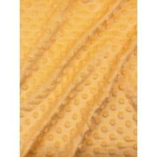 Minky Fleece Noppen Stoff Microfleece Breite 150 cm gelb