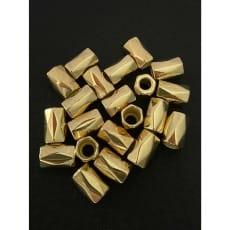 Kordelenden Metall/gold geriffelt