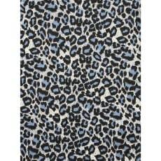 Canvas Stoff Dekostoff Baumwollstoff Panter ab 50 cm grau