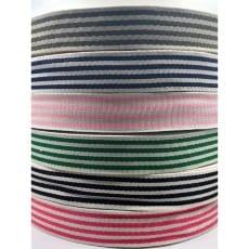 Gurtband 40mm Baumwolle Taschengurt Streifen mini 6 Farben
