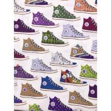 Canvas Stoff Dekostoff Baumwollstoff Schuhe ab 50 cm