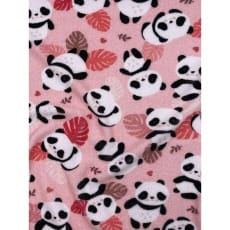 Frottee Stoff Kinderstoff Panda rosa Breite 170cm ab 50 cm