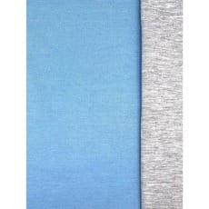 Doubleface Baumwolljersey uni hellblau Breite 145 cm ab 50 cm
